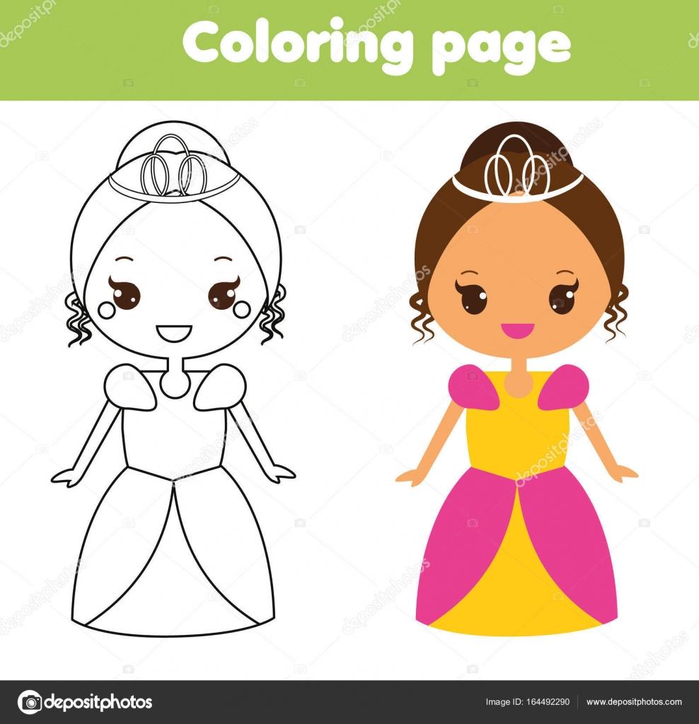 şirin Prenses Boyama Sayfası çizim Küçük çocuklar çocuklar Için