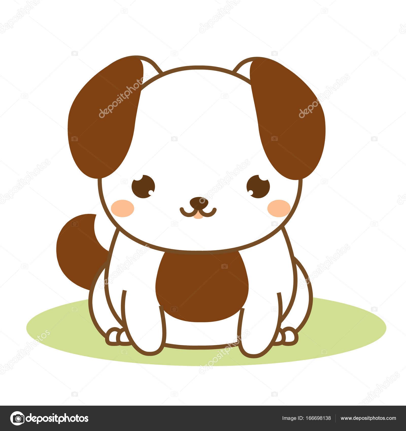 Dibujos Animales Kawaii Lindo Cachorro Estilo Kawaii Perro