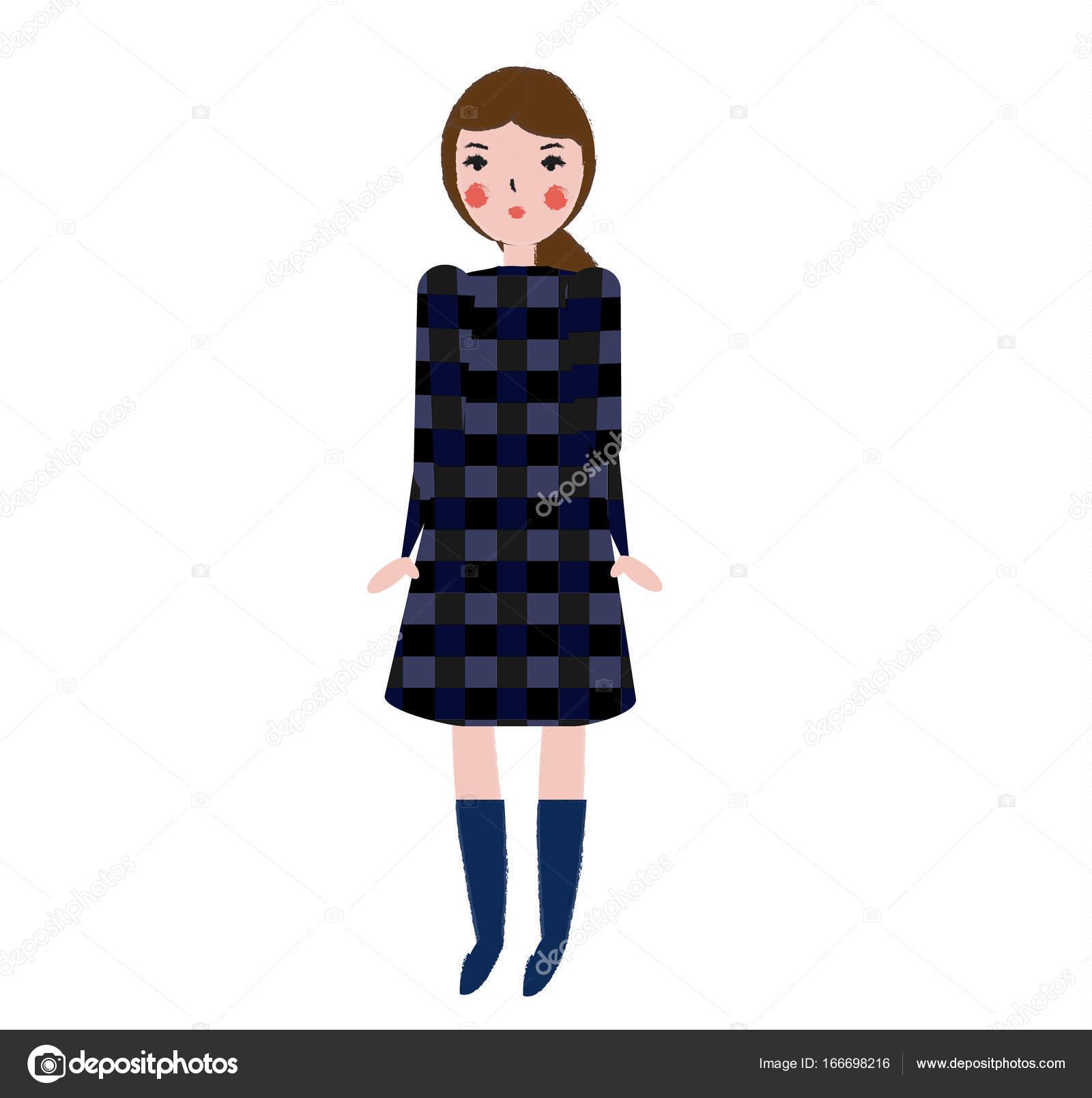 Рисованная одежда девки, парень поимел пальцами
