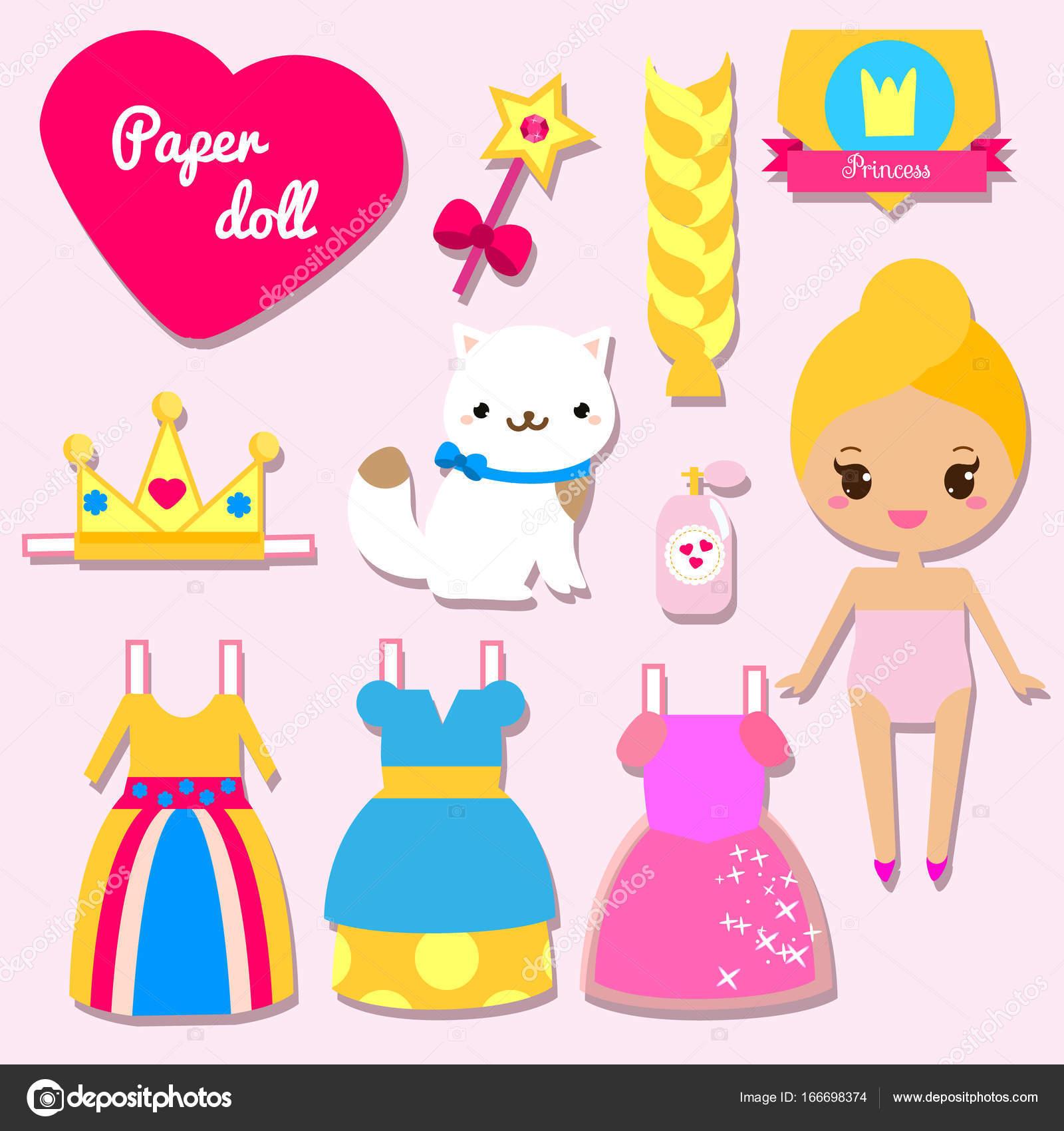 Meninas Para Boneca Bonito Papel De Princesa Vestir Crianças qwIIgXSH