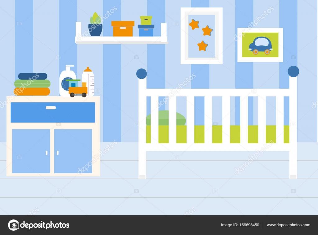 Interior de la habitación del vivero. Apartamento en los colores ...