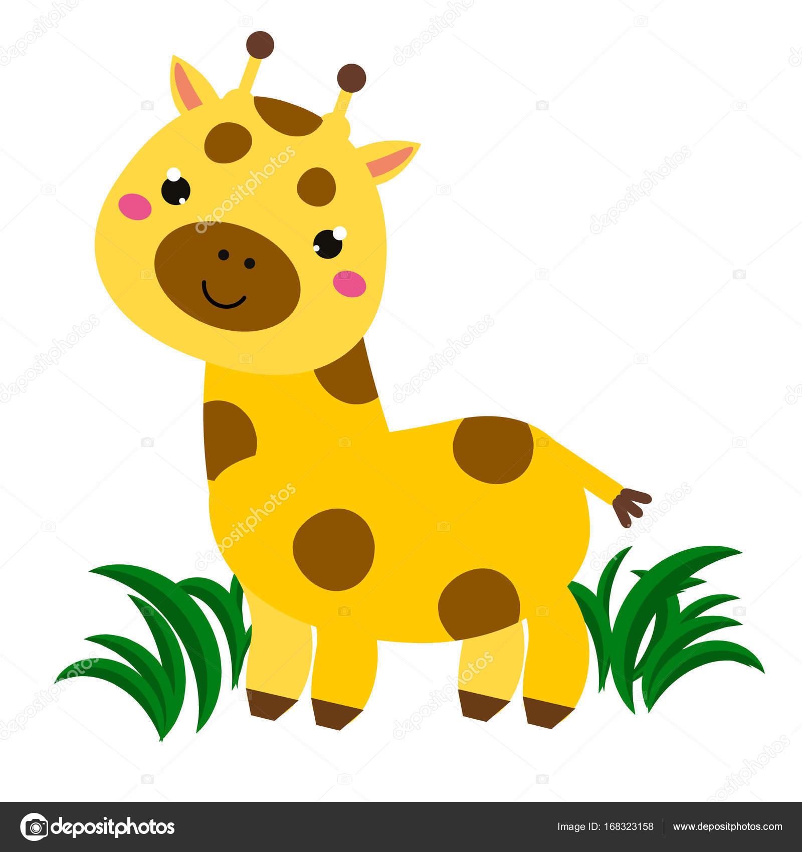 Jirafa De Dibujos Animados Lindo Caracter Animal Para Bebes Y Ninos