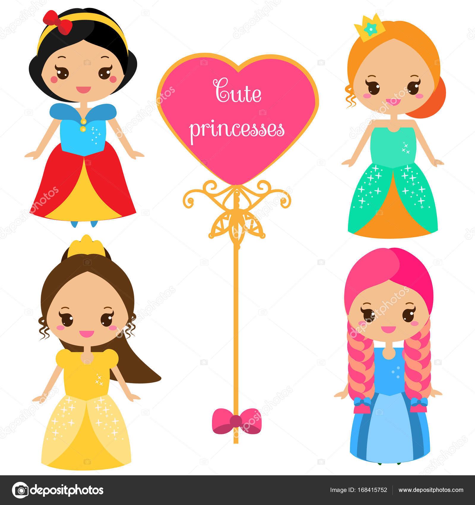 かわいいスタイルのカラフルなドレスでかわいいお姫様女王の衣装の