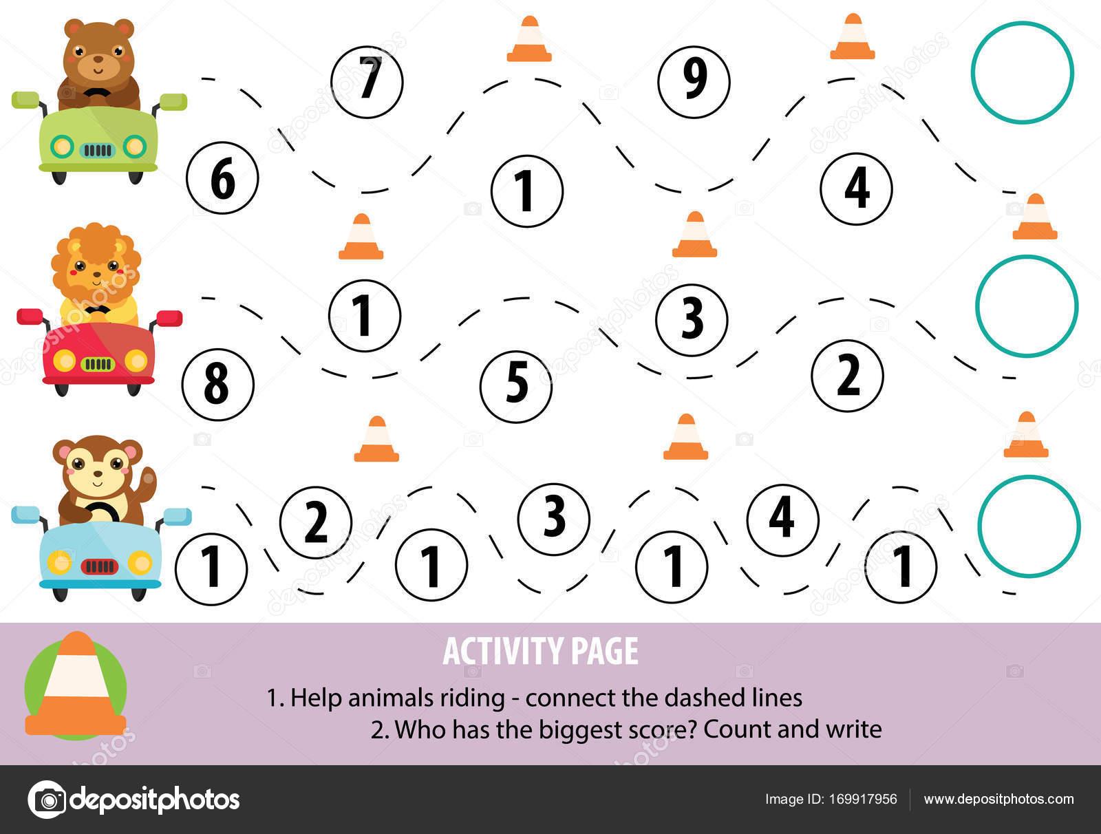 Página de la actividad para los niños. Práctica de escritura y las ...