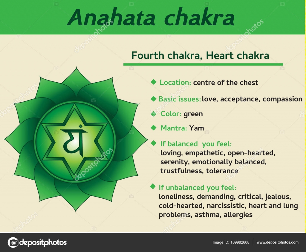 Anahata chakra infographic fourth heart chakra symbol fourth heart chakra symbol description and features information for kundalini yoga practice vector by bonnyheizeail biocorpaavc Gallery