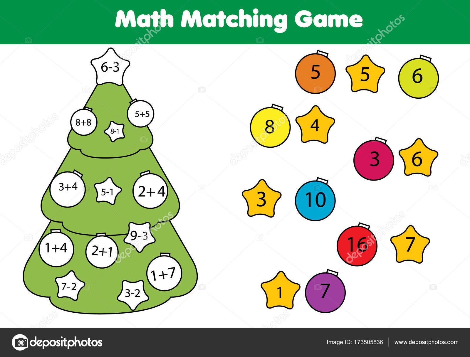 Mathe Lernspiel für Kinder. Abgleichsaktivität Mathematik. Spiel für ...