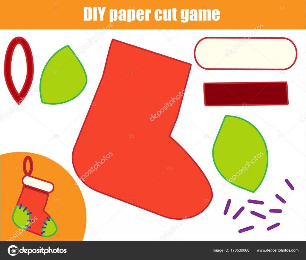 DIY-Kinder kreative Lernspiel. Papier Schneiden Aktivität. Eine ...