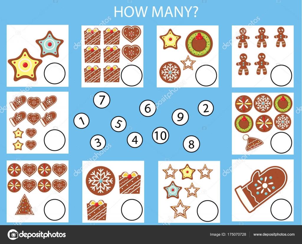 Zählen Pädagogische Kinder Spiel Kinder Aktivität Arbeitsblatt Wie