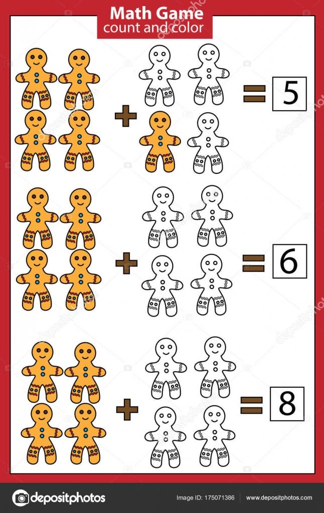 Mathe Lernspiel für Kinder. Zählen Gleichungen. Zusatz-Arbeitsblatt ...