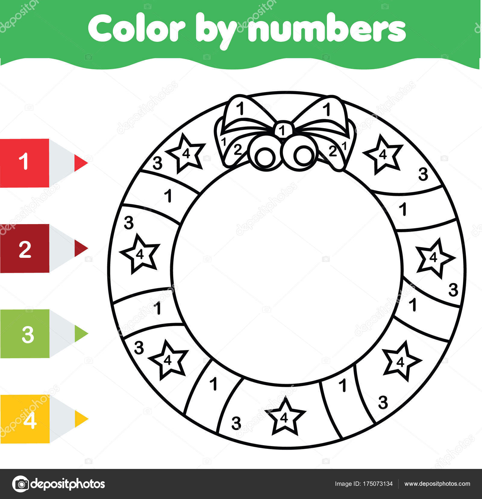 photograph regarding Christmas Numbers Printable named Young children enlightening activity. Coloring website page with Xmas