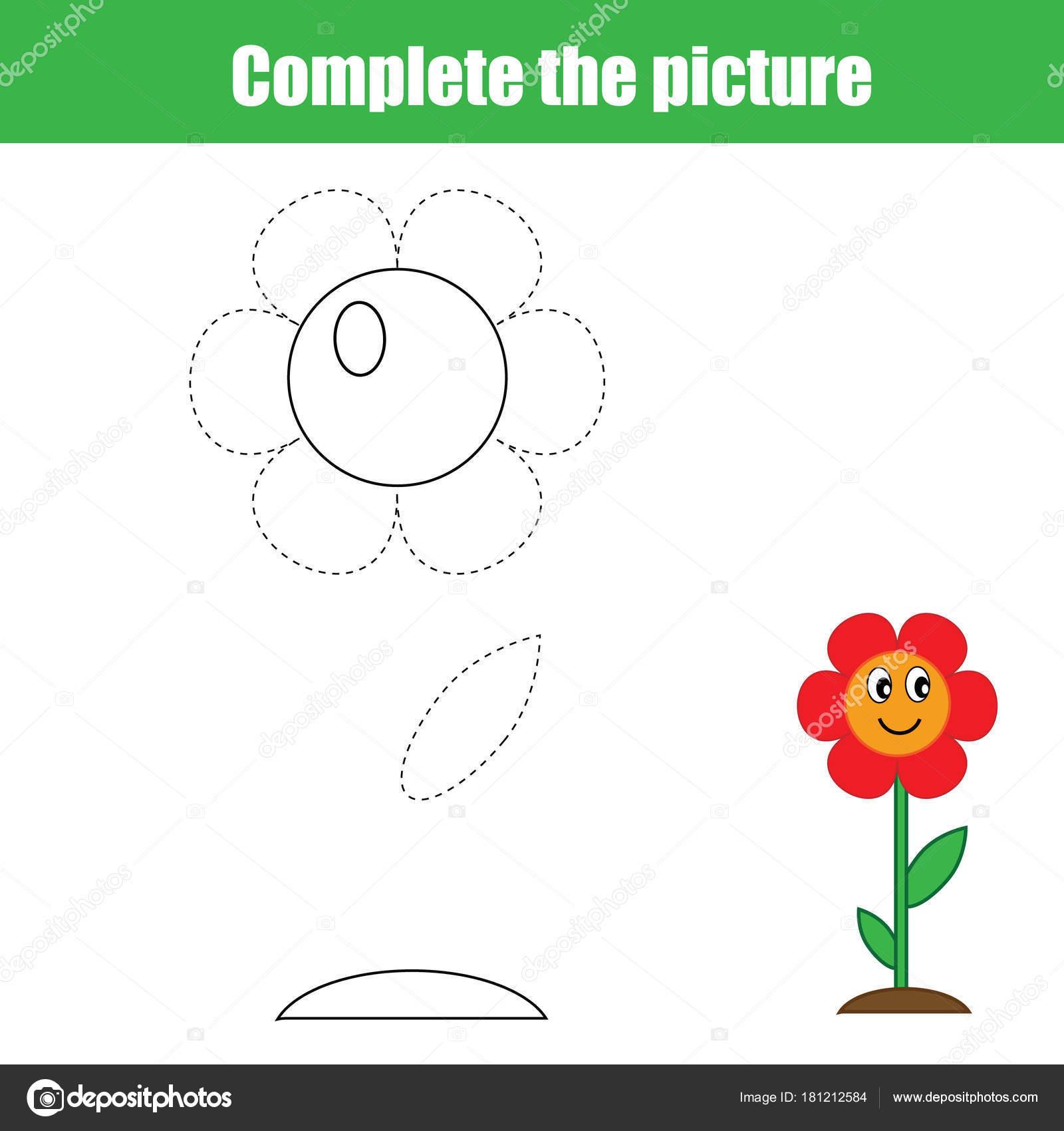 Vervollständigen Sie Das Bild Kinder Lernspiel Malvorlagen Aktivität ...