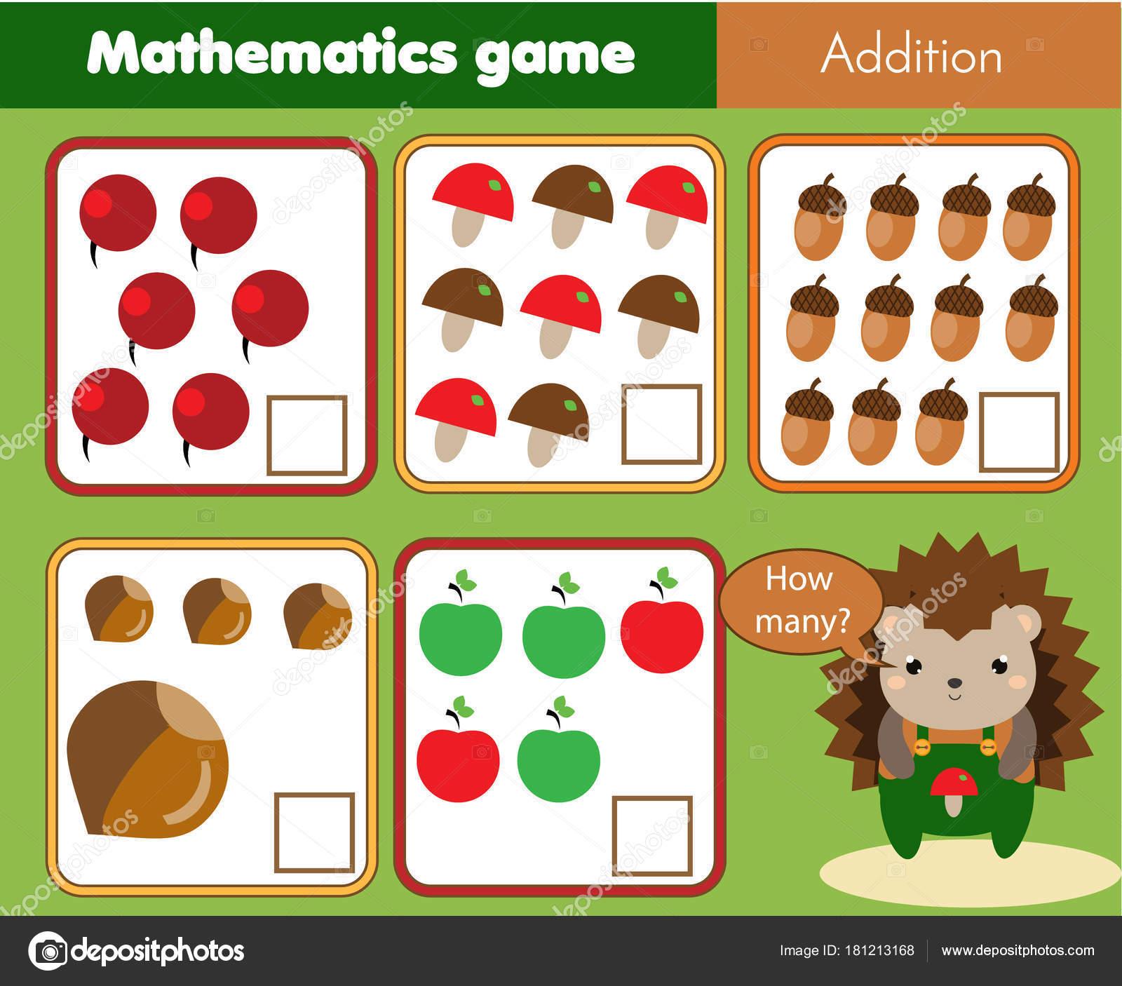Pädagogische Kinder Spiel Mathe Kinder Aktivität Blatt Zählen Wie ...