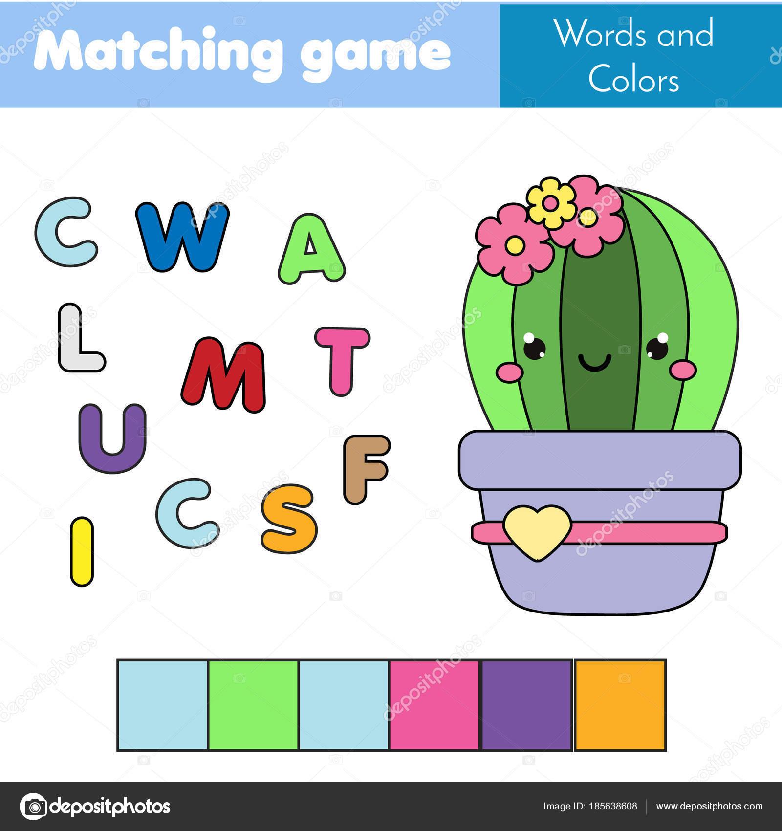 Inder Lernspiel. Puzzle-Wörter. Anpassen von Farbe und platzieren ...
