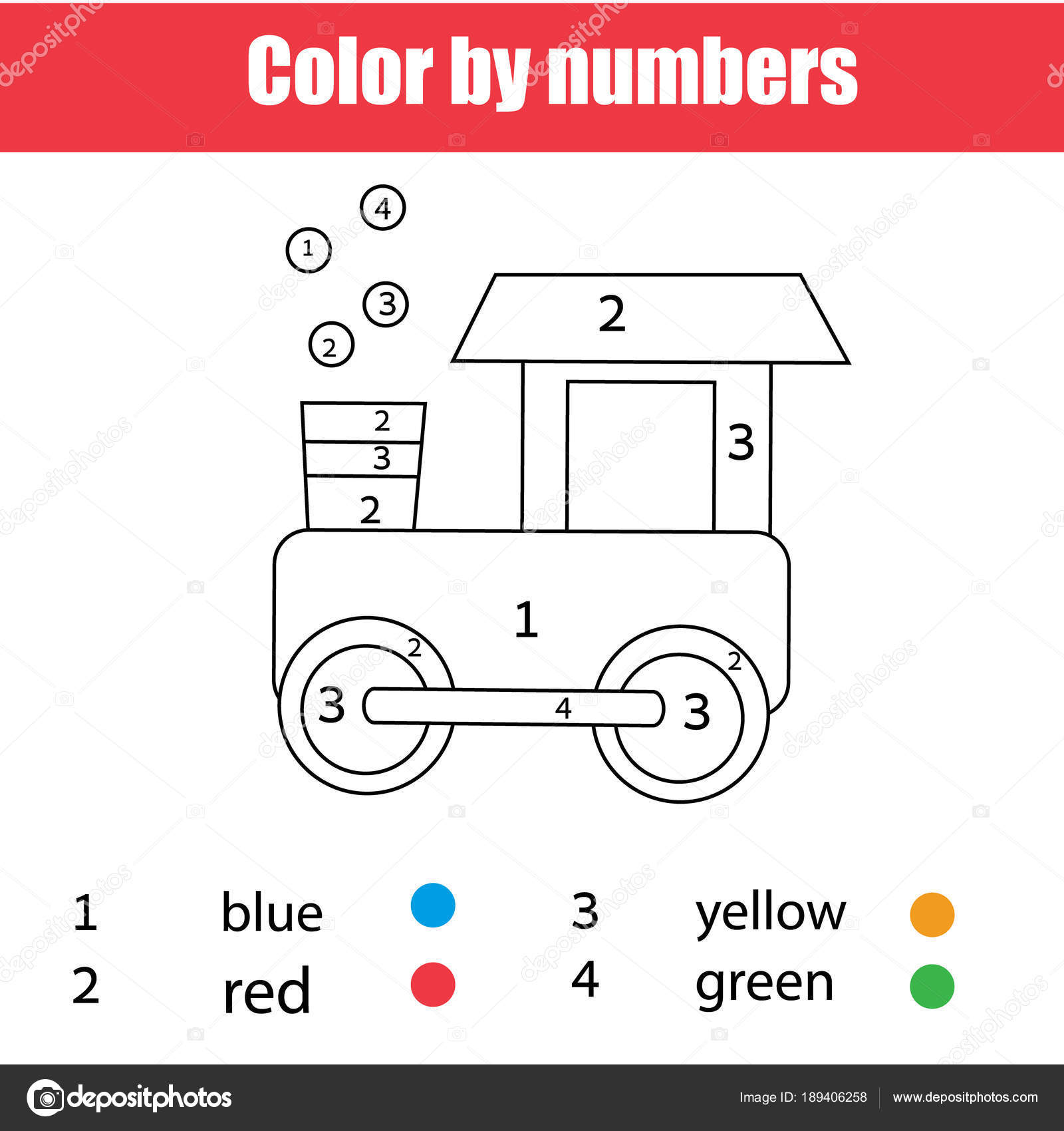 Pictures Printable Trains Coloring Page Toy Train Color Numbers
