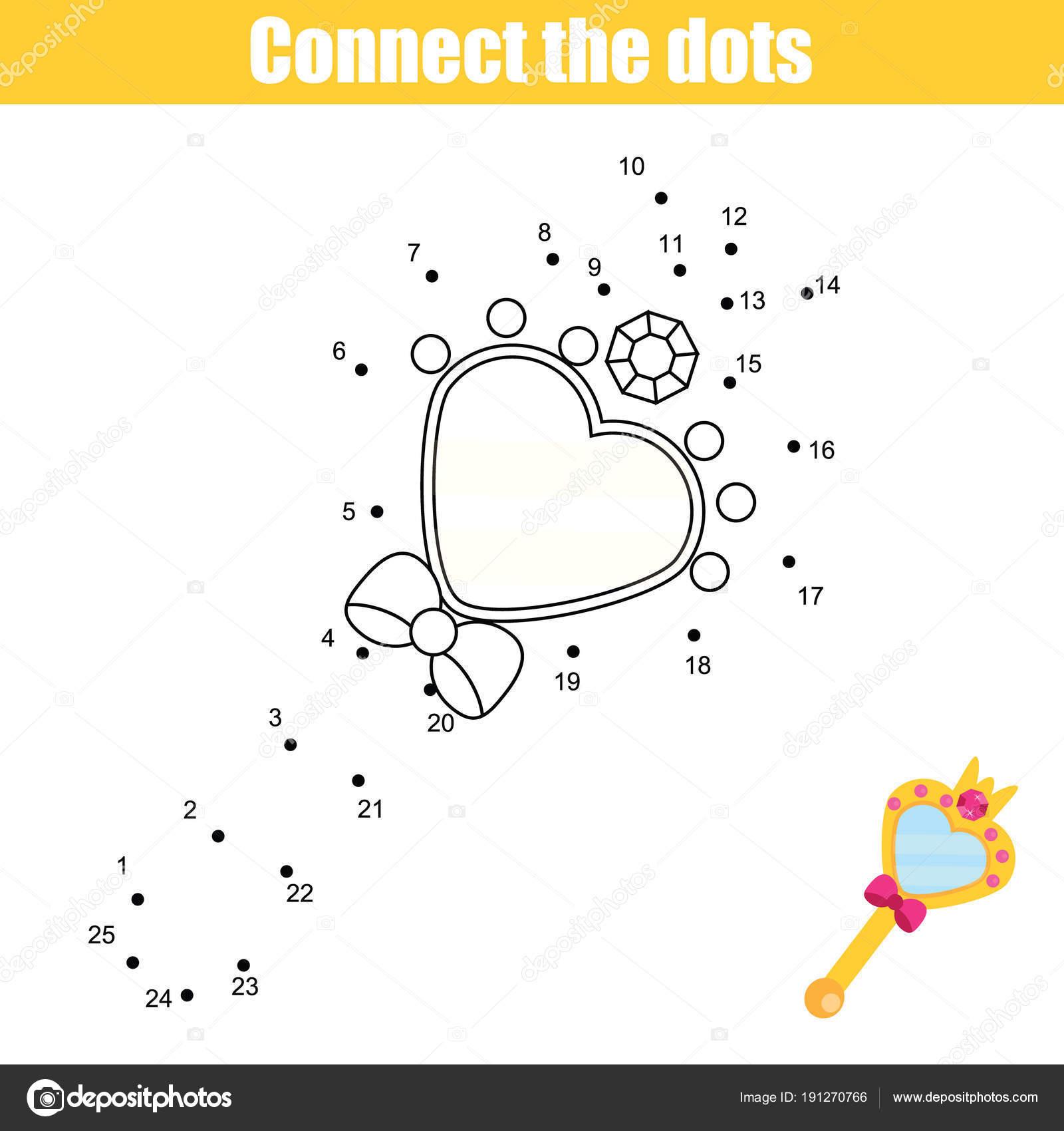 Verbinden Sie Die Punkte Kinder Bildungs Zeichnung Spiel Von Punkt ...