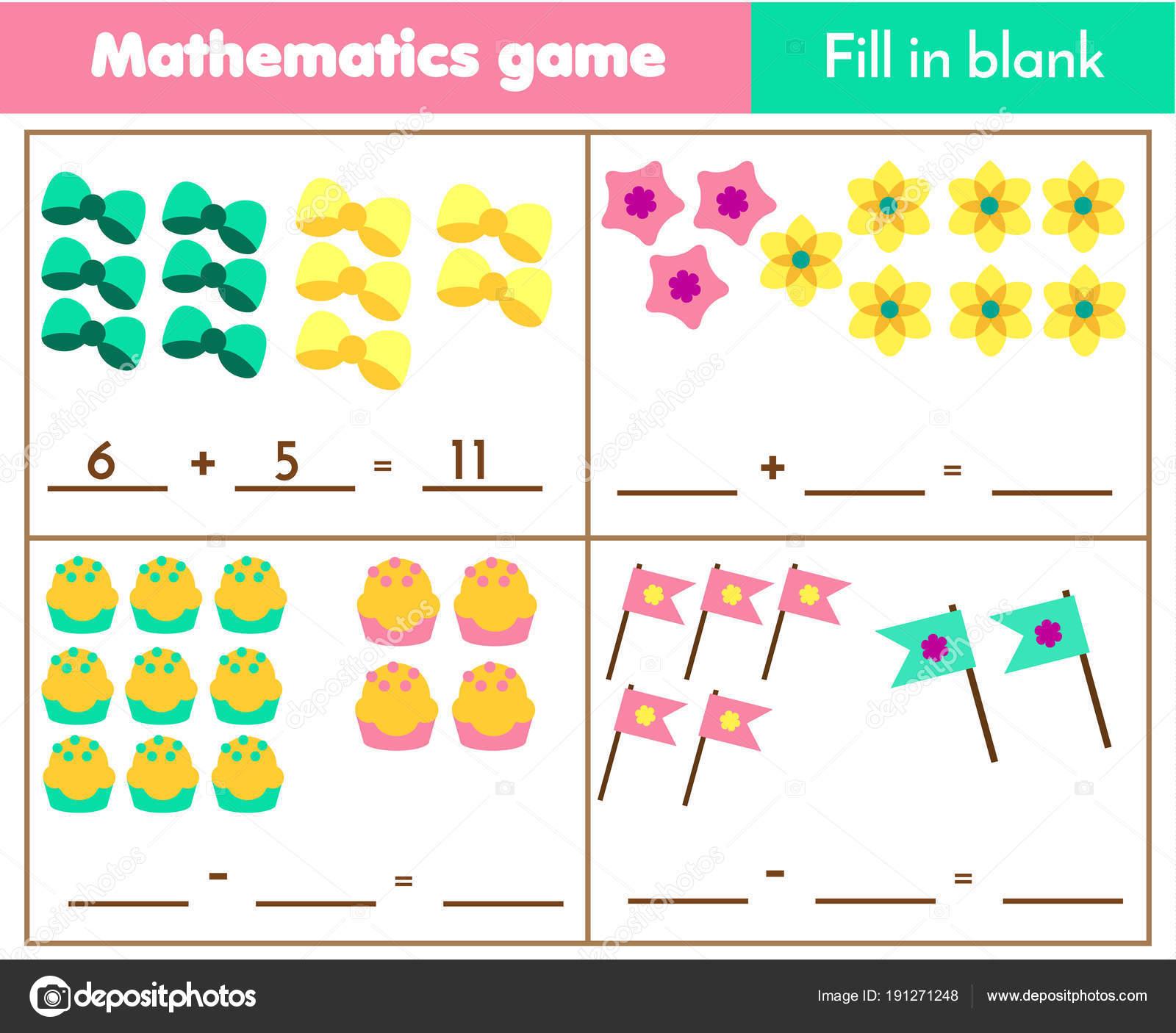 Cuenta Juego Niños Educación Hoja Trabajo Matemáticas Para Niños ...