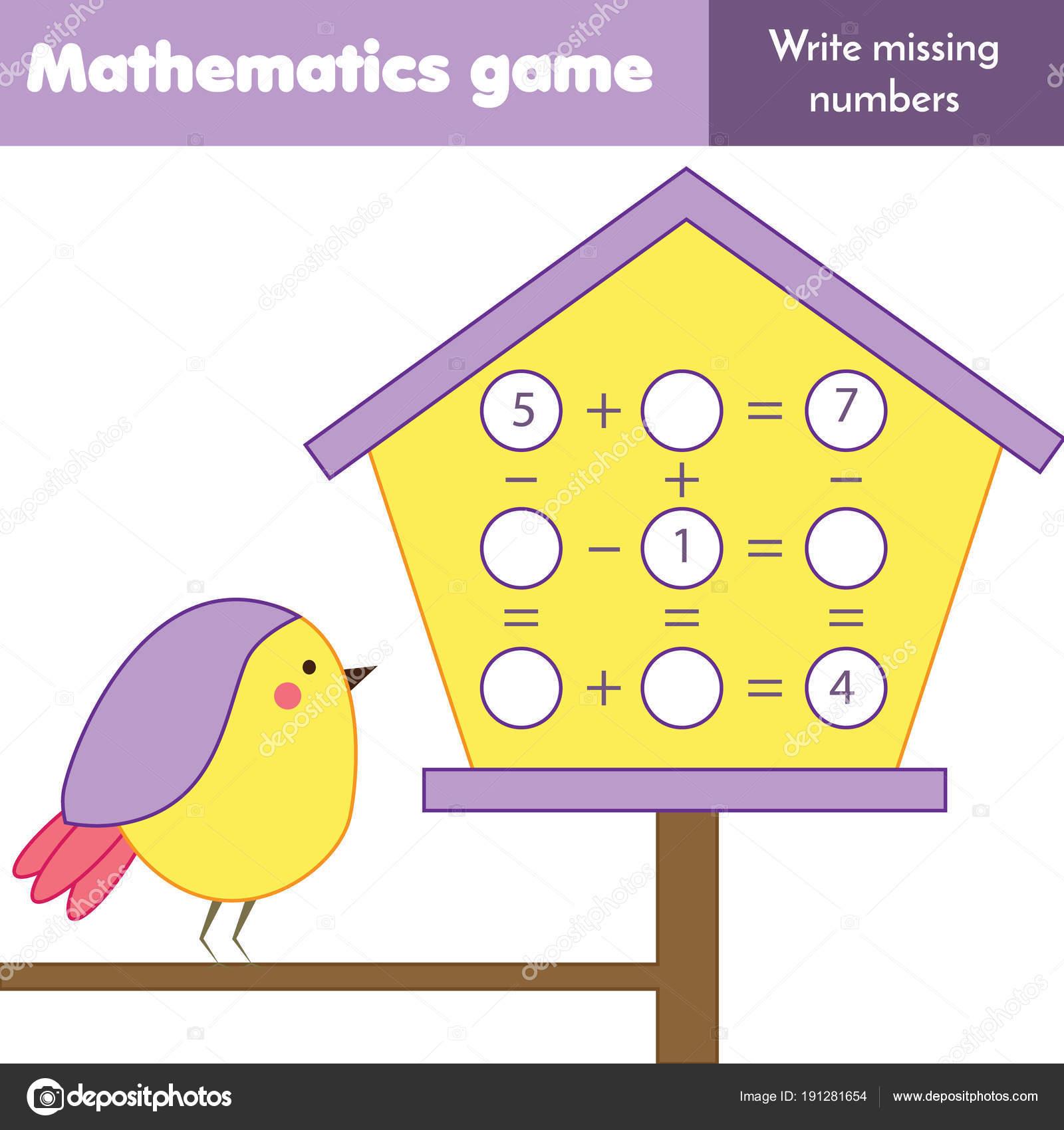 Juego Educativo Matemáticas Para Niños Recuento Las Ecuaciones ...