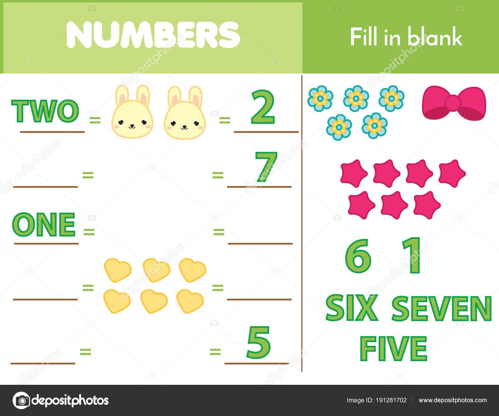 Zählen pädagogische Kinder Spiel, Kinder Mathe Aktivität. Wie viele ...