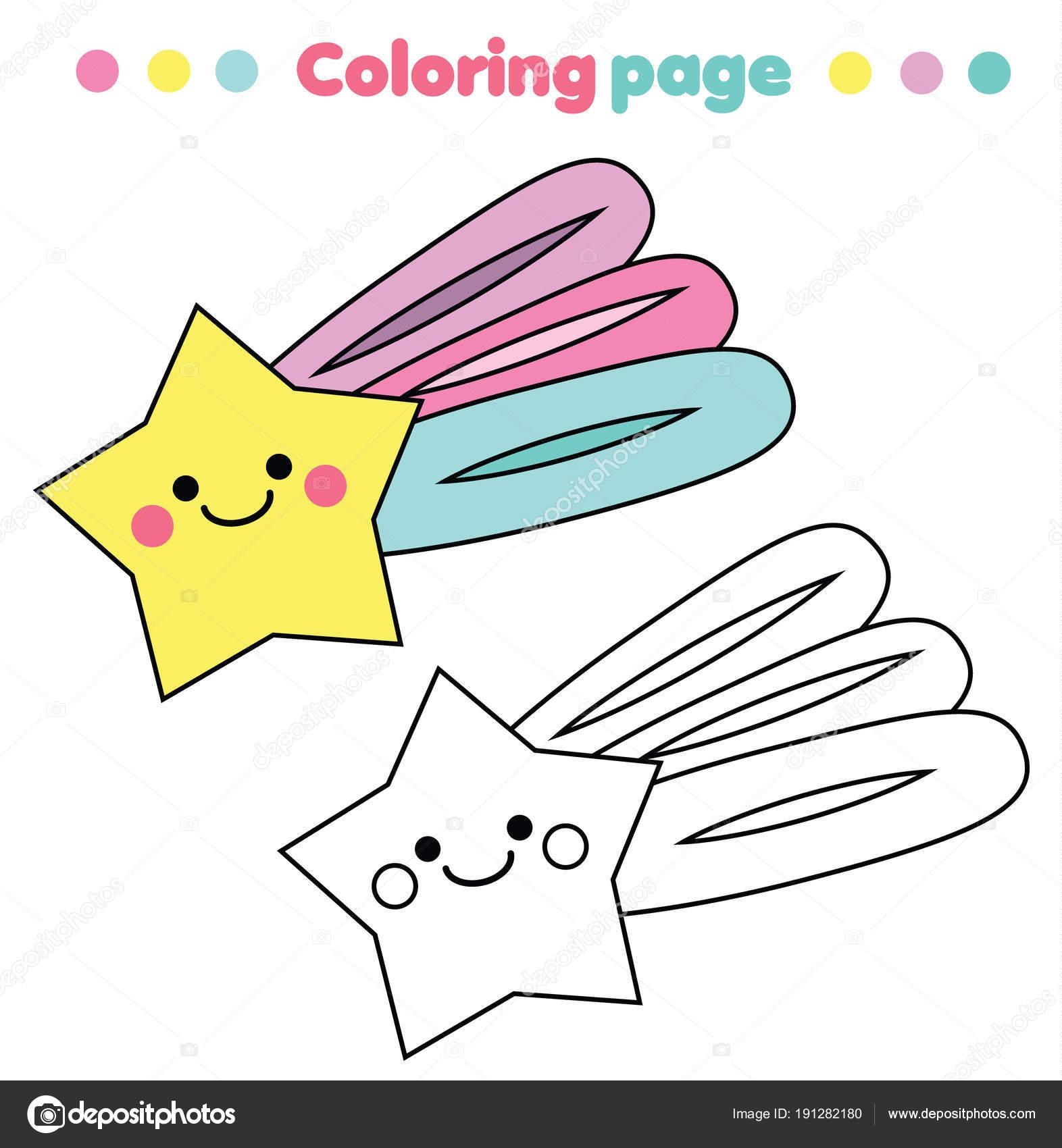 Boyama Sayfası Eğitim çocuk Oyunu Sevimli Yıldızı Yazdırılabilir