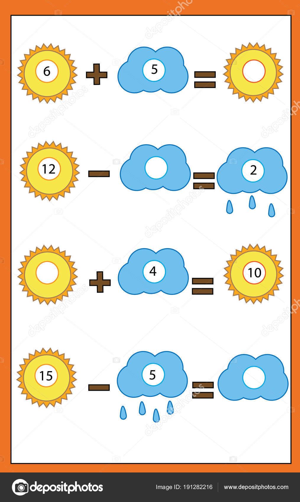 Zählen pädagogische Kinder Spiel, Kinder Mathe Aktivität. Komplette ...