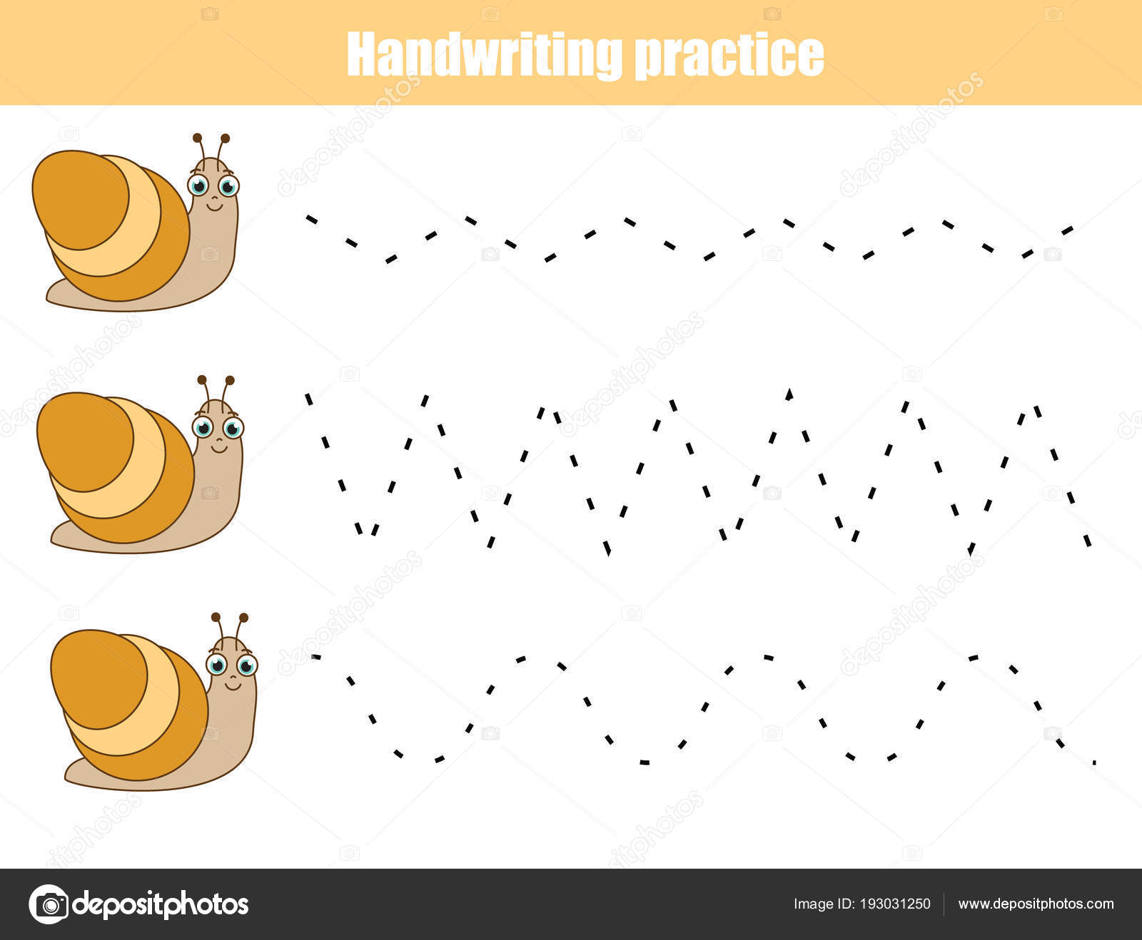 Handschrift Praxis Blatt Pädagogische Kinder Spiel Druckbare ...