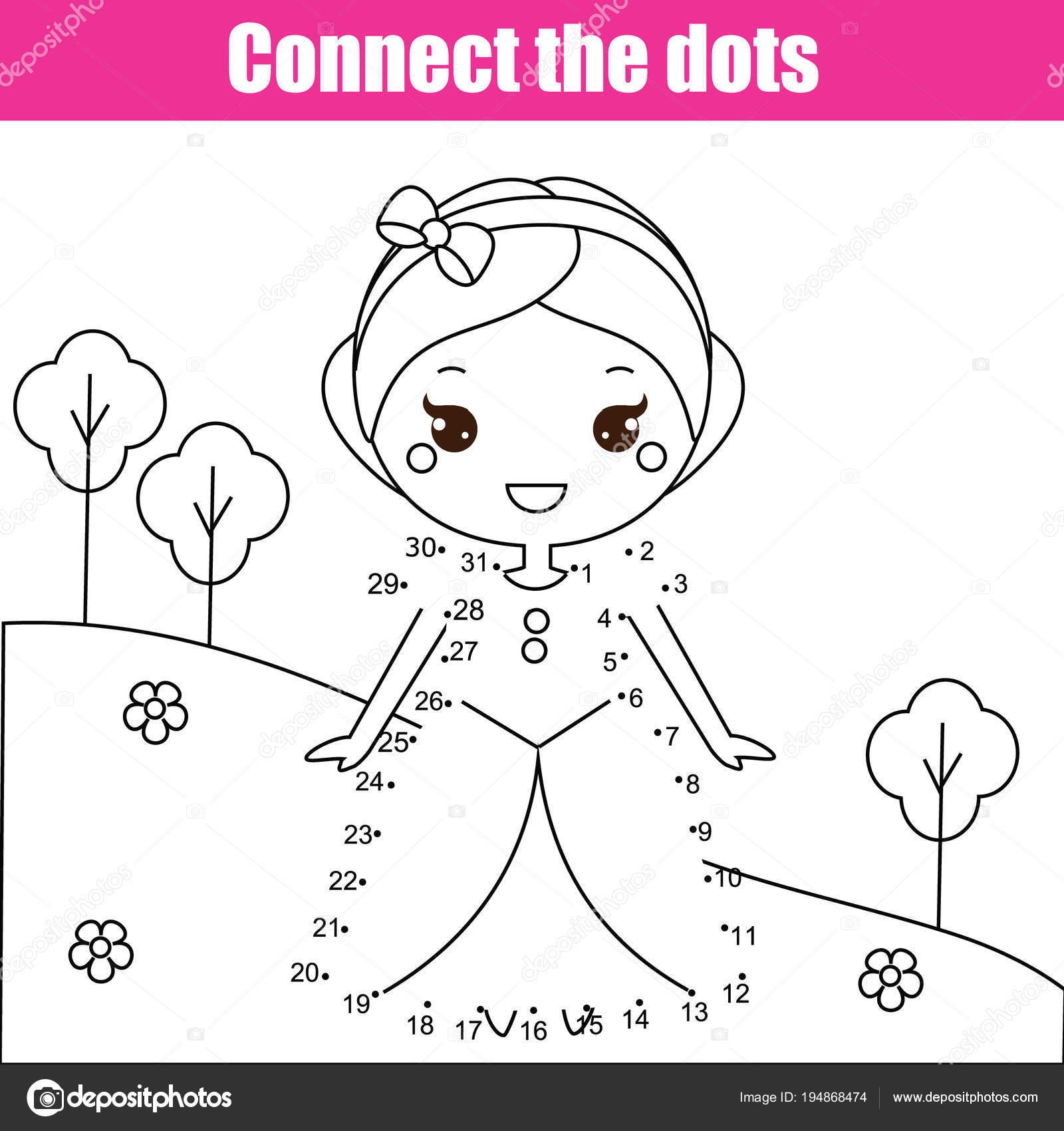 Verbinde die Punkte von Zahlen Kinder Lernspiel. Druckbare ...