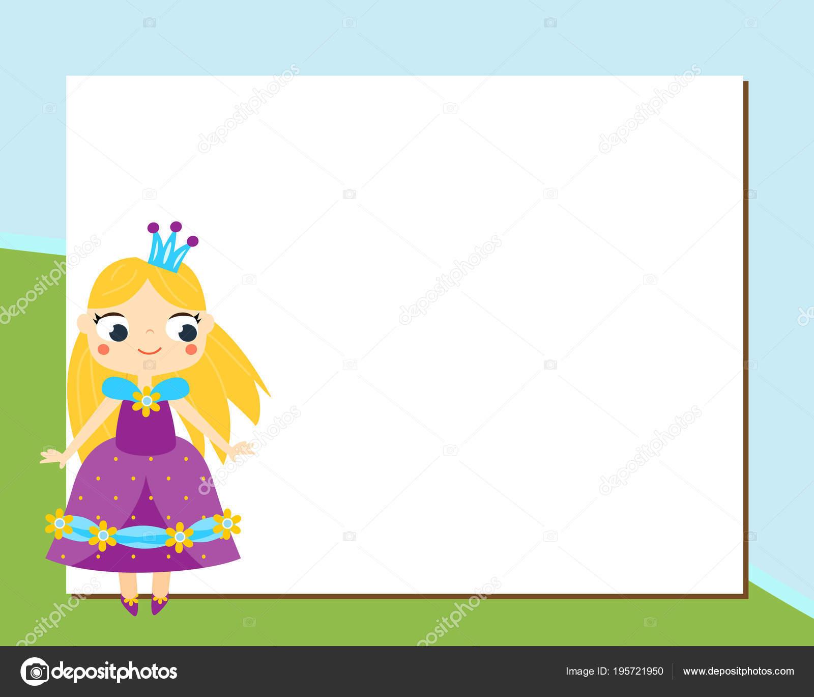 Prinzessin Frame Design-Vorlage für Fotos, Kinder-Diplome und Kinder ...