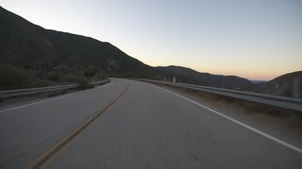 Hyperlapse Driving Mountain Canyon Highway At Sunrise Time Lapse California