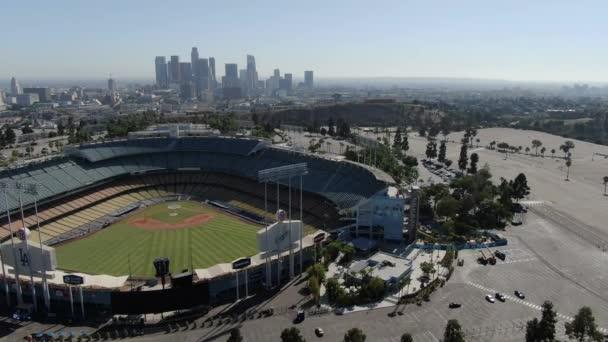 Los Angeles Dodger Stadium Aerial Shot Right Descend