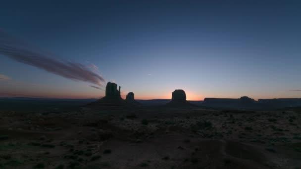 Monument Valley Dawn Time Lapse Southwest Desert Amerikai Egyesült Államok