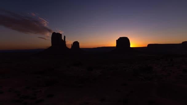 Monument Valley Dawn Time Lapse Southwest Egyesült Államok