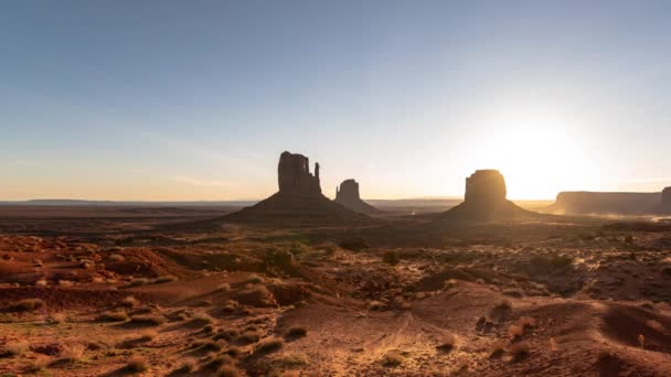 Monument Valley Sunrise Over Buttes Time Lapse Southwest Amerikai Egyesült Államok