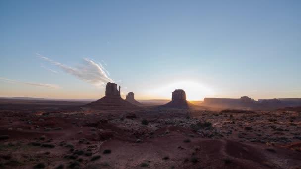 Monument Valley Sunrise Time Lapse Over Southwest Desert Amerikai Egyesült Államok