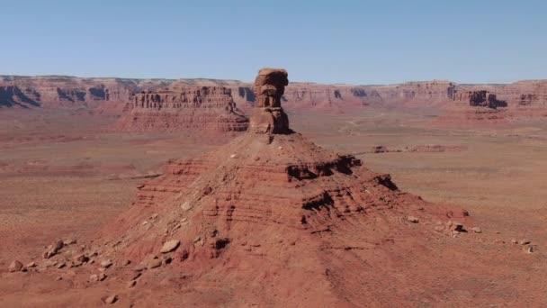 Valley of the Gods Légi felvétel Buttes délnyugati sivatagi pályán jobbra