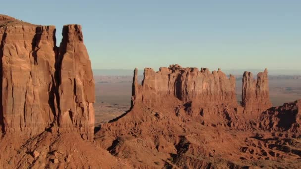 Monument Valley Brighams Tomb to Stagecoach Letecký Shot Southwest USA