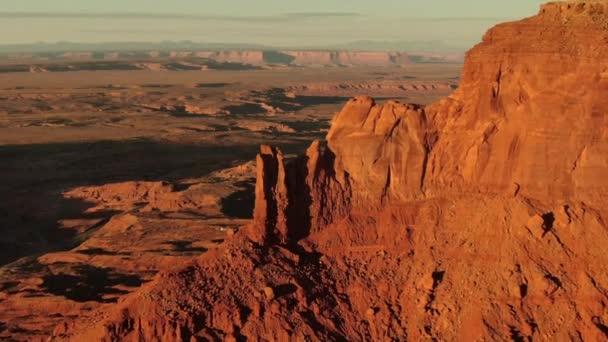 Monument Valley Brighams Tomb Fly Over Sunset Aerial Southwest Amerikai Egyesült Államok