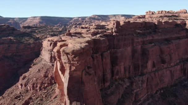 Valley Of The Gods Aerial Shot Of Desert Canyon Ország Előre