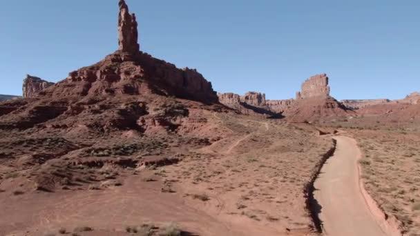 Valley Of The Gods Légi felvétel Délnyugati sivatag kanyon Előre