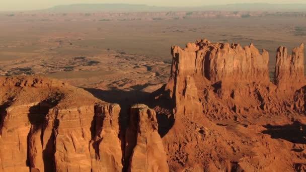 Monument Valley Színpad Buttes Sunset Aerial Shot Southwest Amerikai Egyesült Államok