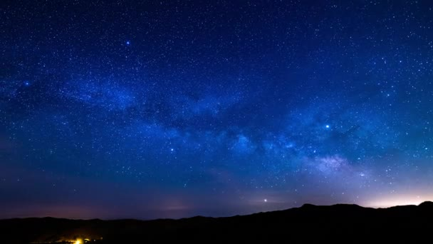 Aquarids Meteor Shower 2019 Milky Way Galaxy Rise Time Lapse Southeast Sky Wide Shot Mountains