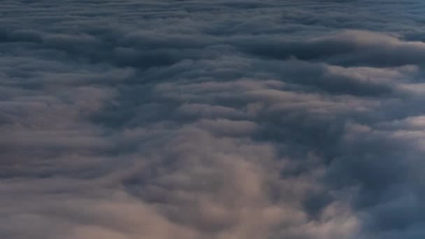 Sunset Sea Of Clouds Time Lapse Over Mountain Peaks in California USA Reveal Ridges