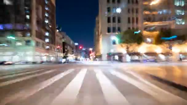 Driving Hyperlapse Front View VJ Loop 13 Los Angeles Downtown California USA