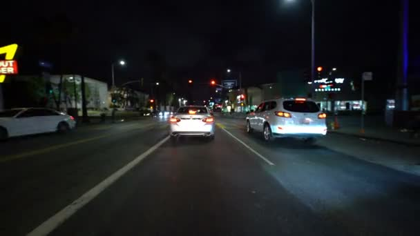 Hyperlapse Driving Hollywood Sunset Blvd Eastbound California Amerikai Egyesült Államok