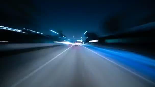 Driving Hyperlapse Front View VJ Loop 10 Santa Monica to Los Angeles California USA