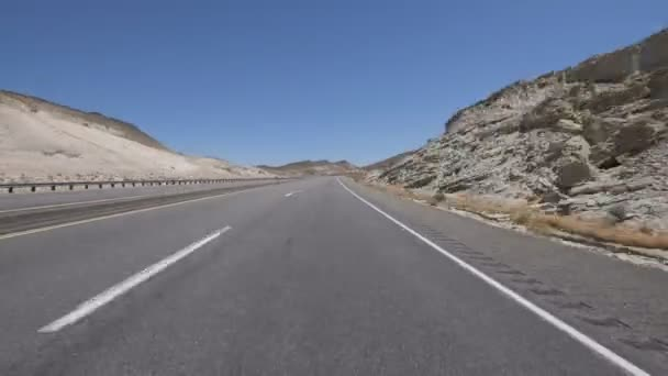 Time Lapse Desert Highway Canyon Driving Template Front View 1 California USA