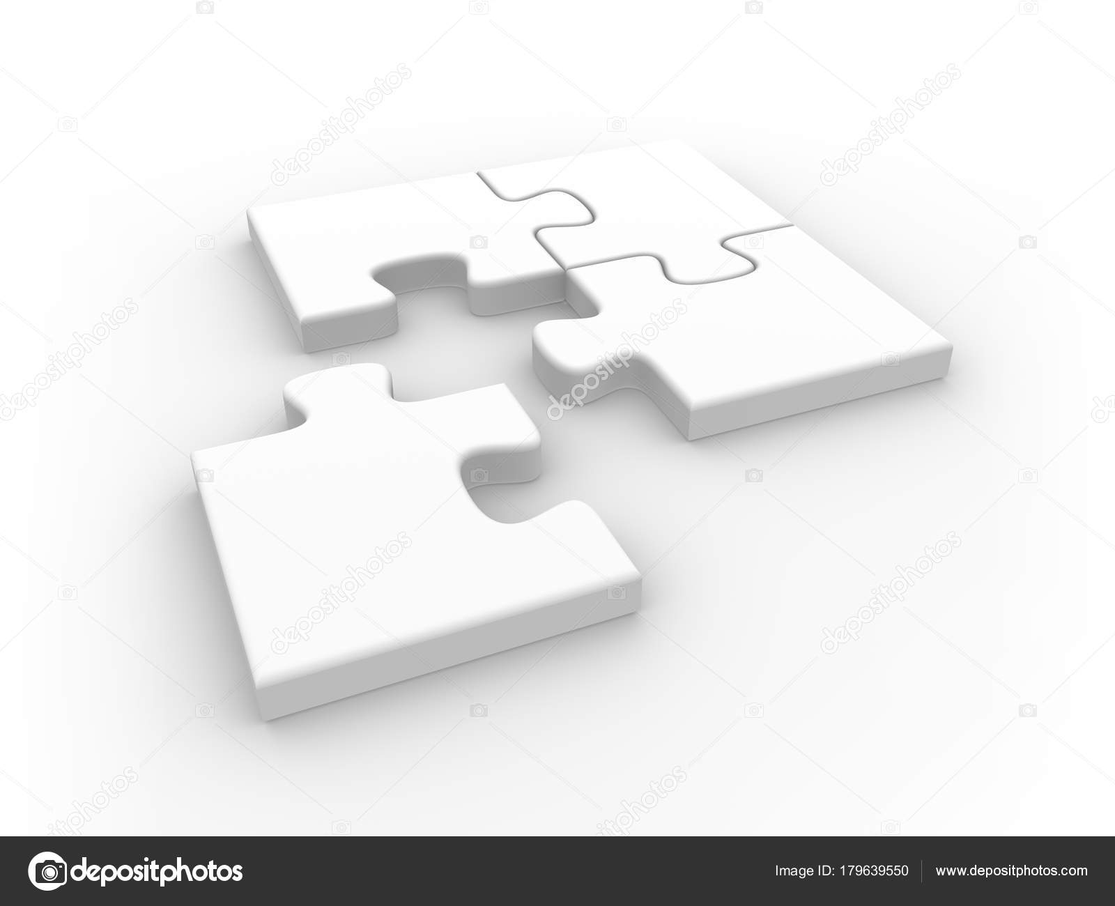 White Jigsaw Puzzle Pieces 3d Rendered Illustration Photo By 3D Sparrow