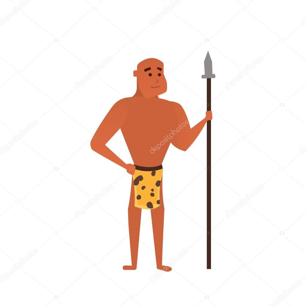 Homme Prehistorique De Vecteur Illustration De Dessin Anime Homme