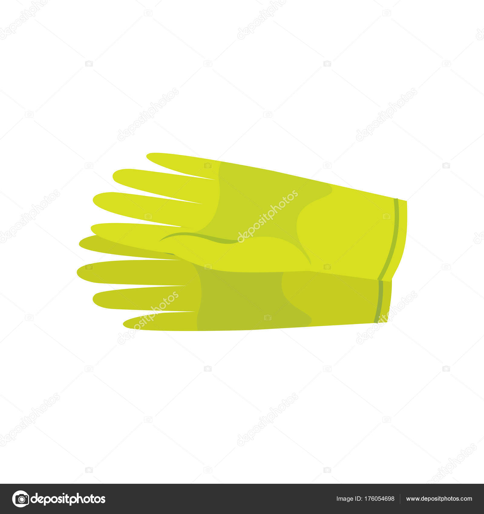 Clean Latex Gloves Vector Illustration Isolated Stock Vector