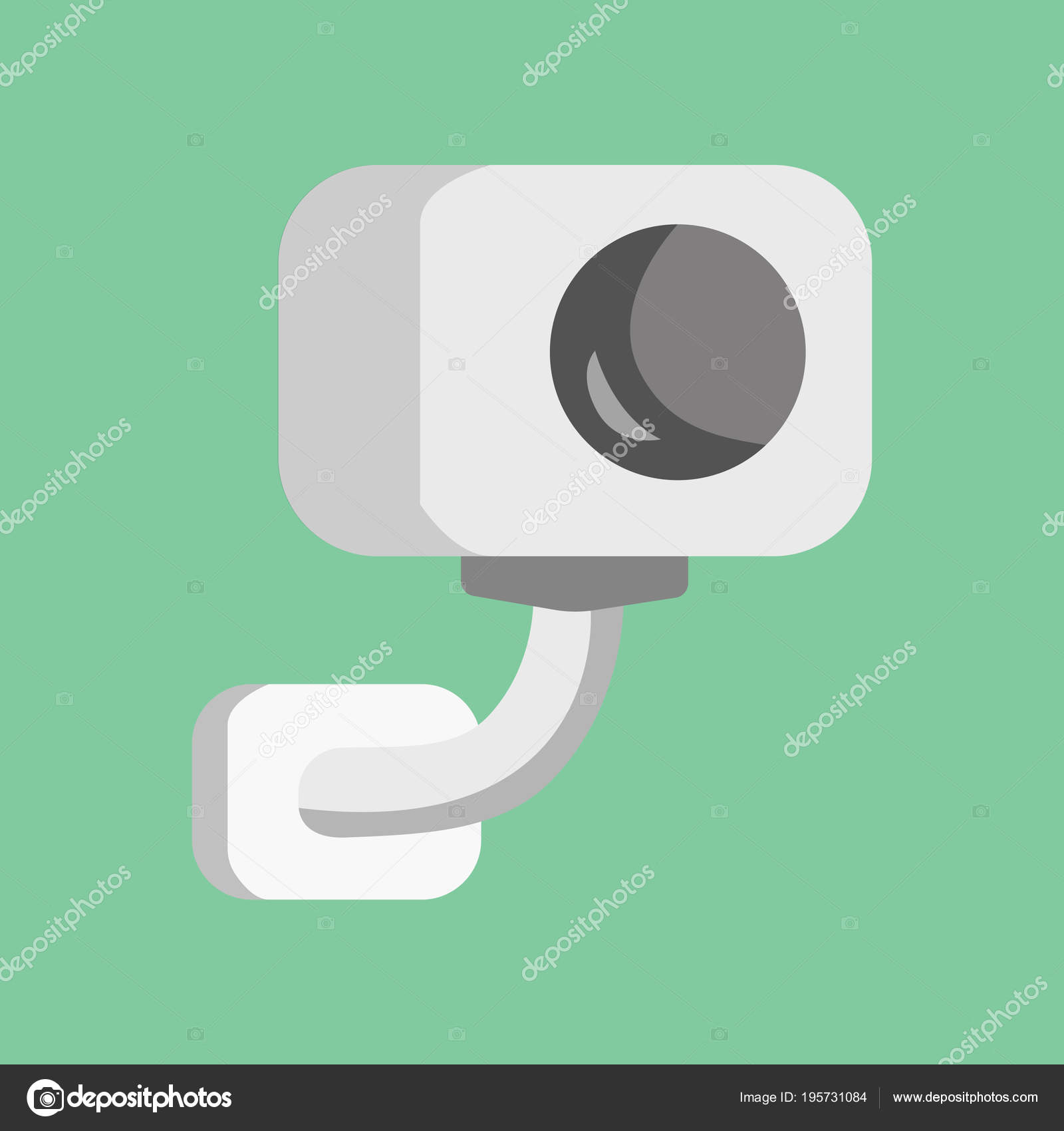 Vector Security Camera Cctv Cartoon Illustration Safety And