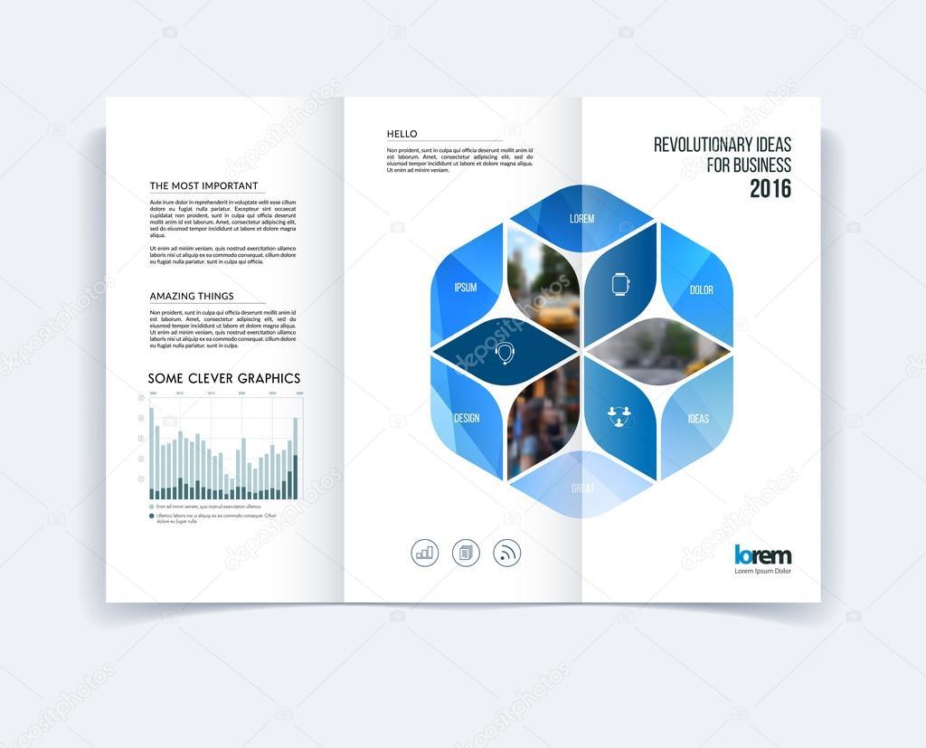 Triple diseño de plantilla de folleto, diseño de la cubierta ...